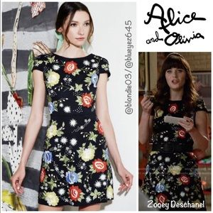 "Alice + Olivia ""Ellen"" embroidered dress 2"
